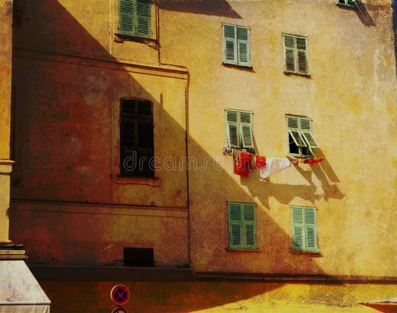 Nice Vieille Ville (den gamla staden) CÃ'te dAzur, Frankrike royaltyfria bilder