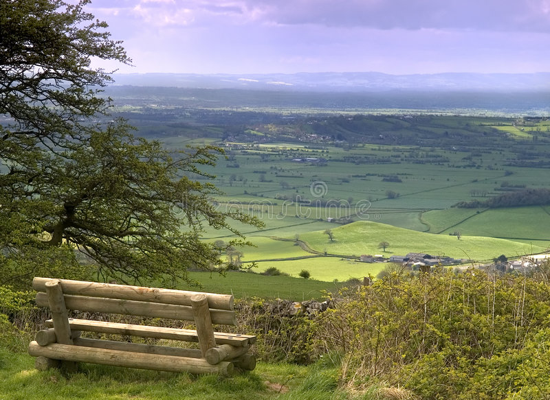 A Nice View. A view from on top of the Mendip hills in Somerset England royalty free stock images