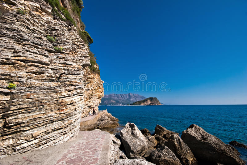 Download Nice view of Budva stock image. Image of mountains, green - 15347347
