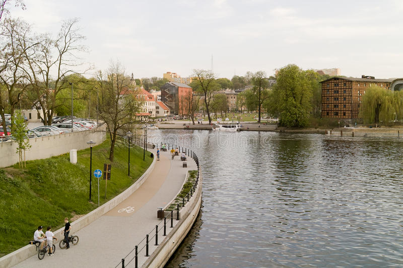 Nice view on Bydgoszcz, Poland. royalty free stock image