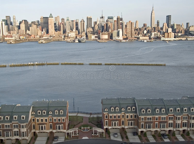 Nice View Condos. This is a shot of some luxury condominiums along the Hudson River with a fabulous view of Manhattan royalty free stock image