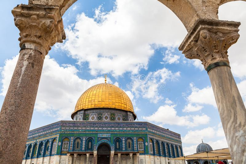 Nice view of Dome of the Rock stock image