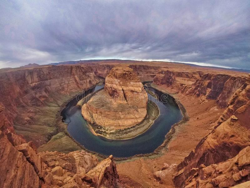 Nice view of horseshoe in america royalty free stock photo
