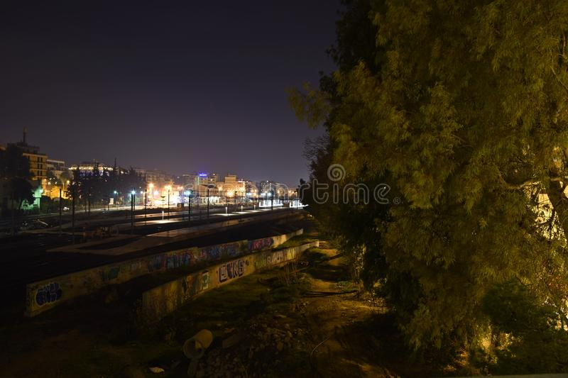 Nice view at night royalty free stock photos