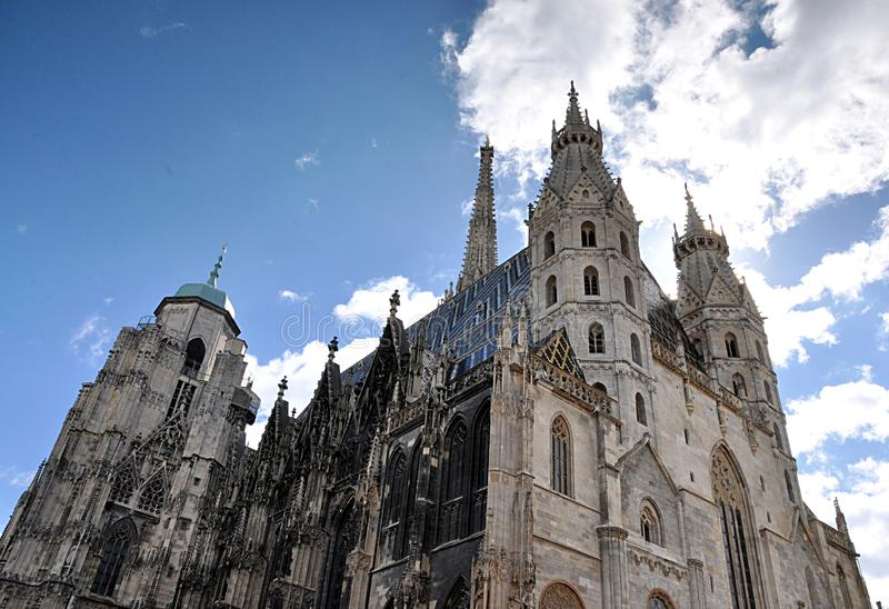 Old cathedral , city Vienna , Austria, Europe. Nice view, old cathedral,city Vienna, Austria,Europe royalty free stock photos