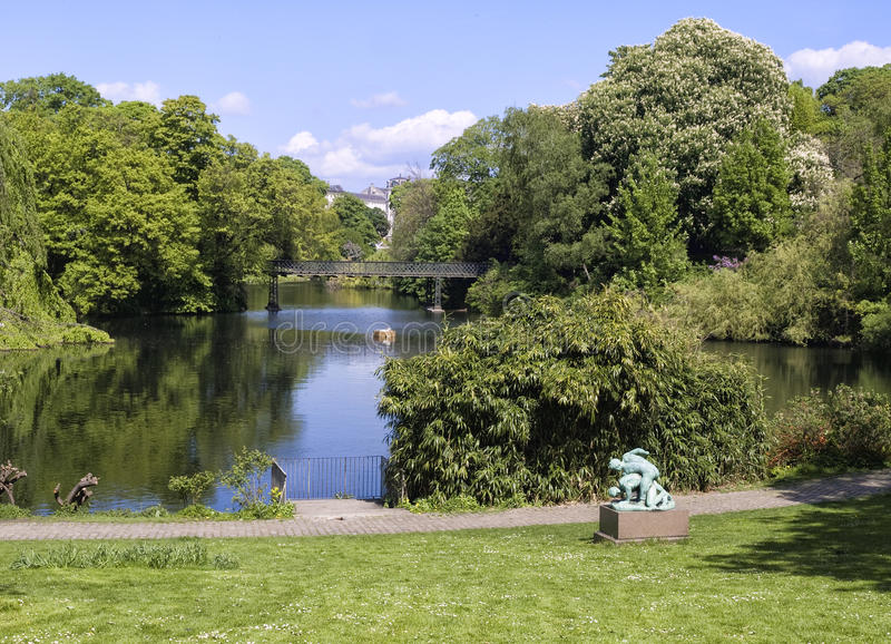 Download Nice View Of A Park In Copenhagen Royalty Free Stock Photography - Image: 24686147