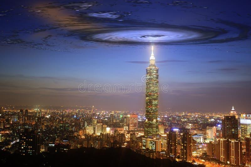 Nice view of Taipei city, Taiwan with nice background stock photo