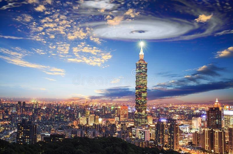 Nice view of Taipei city, Taiwan with nice background stock photos