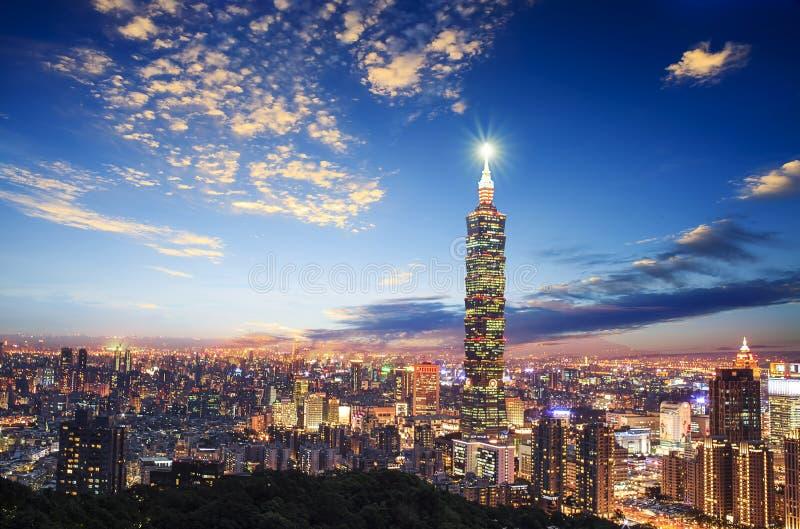 Nice view of Taipei city, Taiwan with nice background stock image