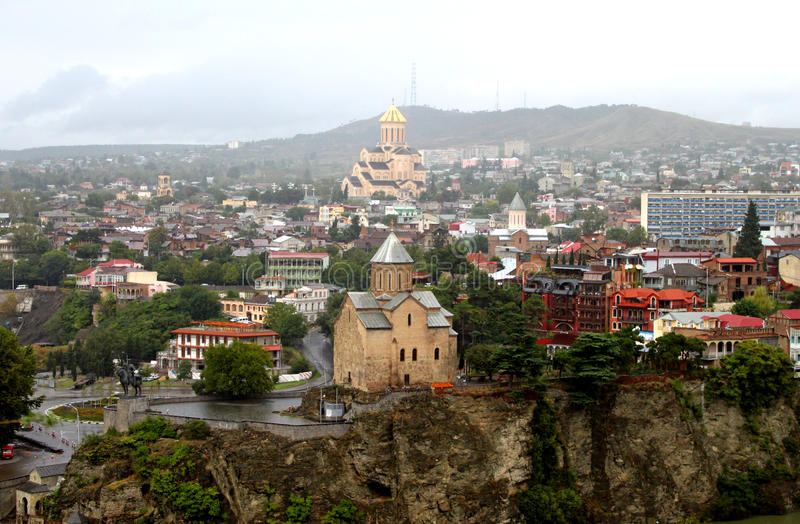 Nice view of Tbilisi stock images