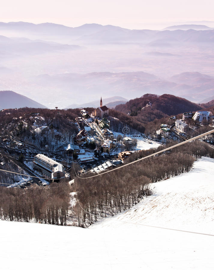 Download A Nice Village On Snowy Italian Mountains Stock Photo - Image: 21307872