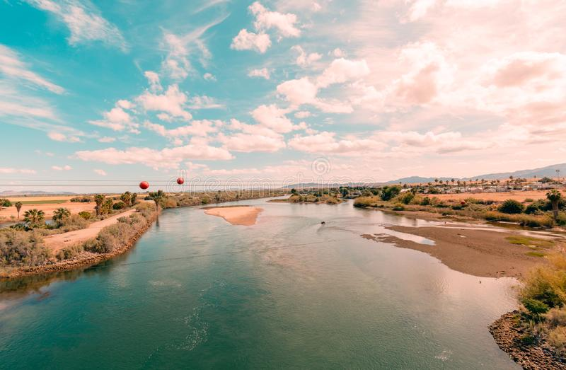 Warm day on the Colorado River. royalty free stock photo