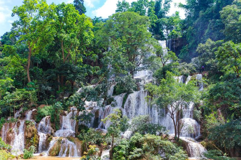 This is a nice waterfall in Moc Chau, Son La province, Vietnam. This is a nice waterfall in Moc Chau, Son La province, Vietnam royalty free stock photo