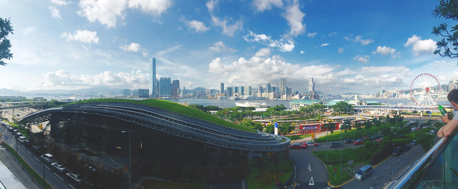 Nice weather in hongkong stock photography
