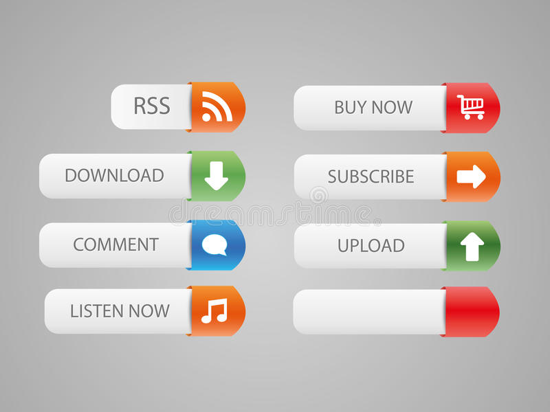 Nice web buttons. Nice color web buttons, icon vector illustration