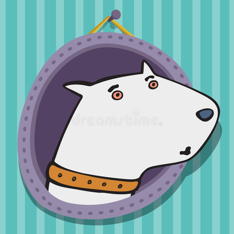 Download Nice white a bull terrier stock vector. Image of cute - 9928044