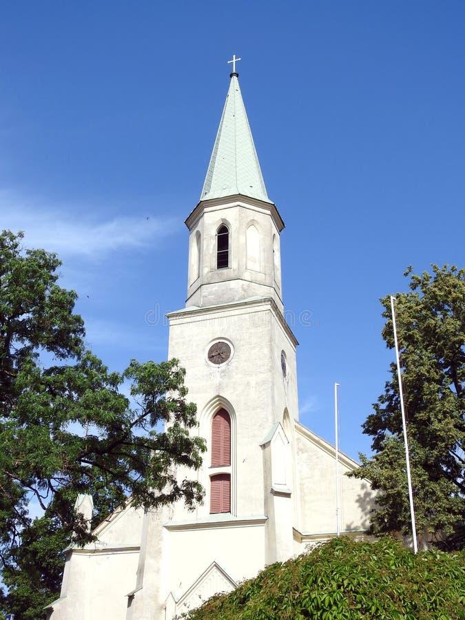 Old beautiful catholic church, Latvia stock image