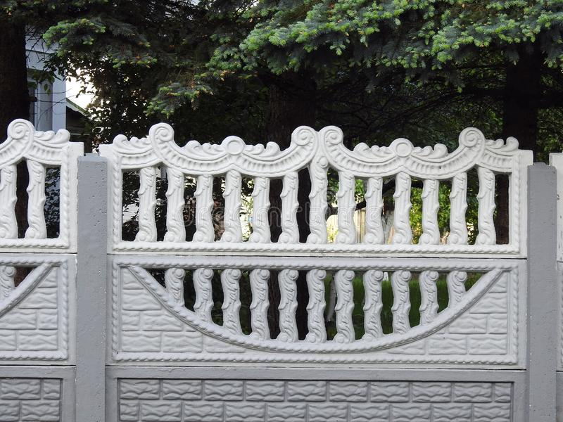 Beautiful white fence, Lithuania royalty free stock images