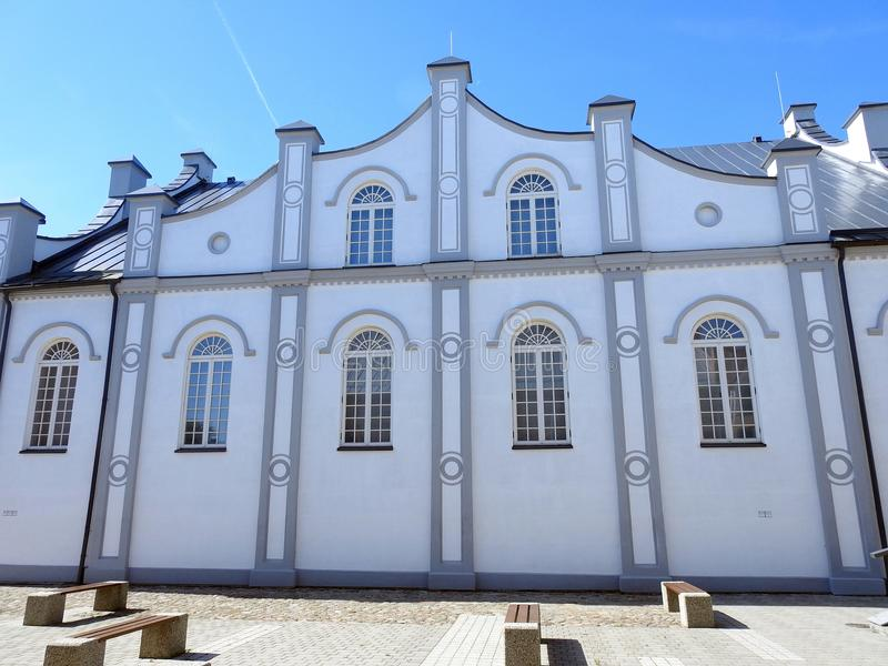 Old beautiful Jews synagogue . Lithuania stock image