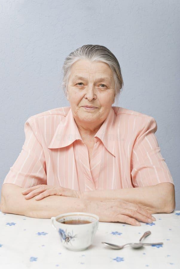 Nice woman sixty years stock image