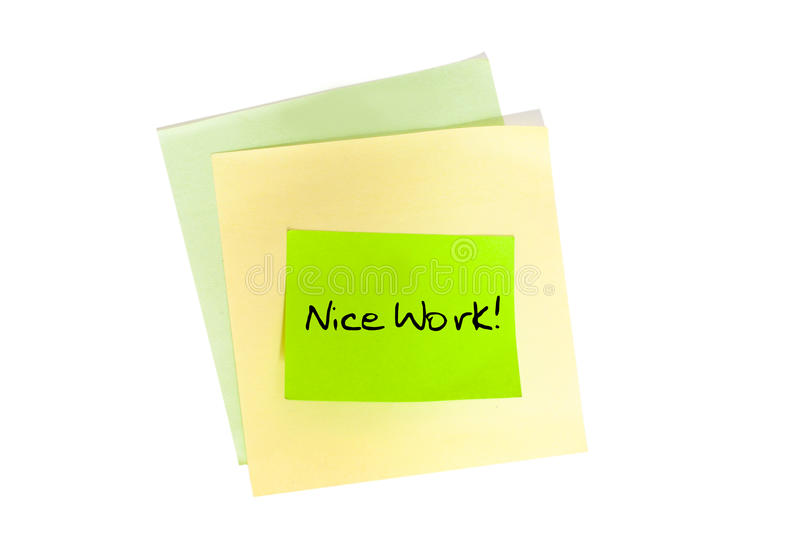 Download Nice Work stock photo. Image of message, object, notepaper - 27369568