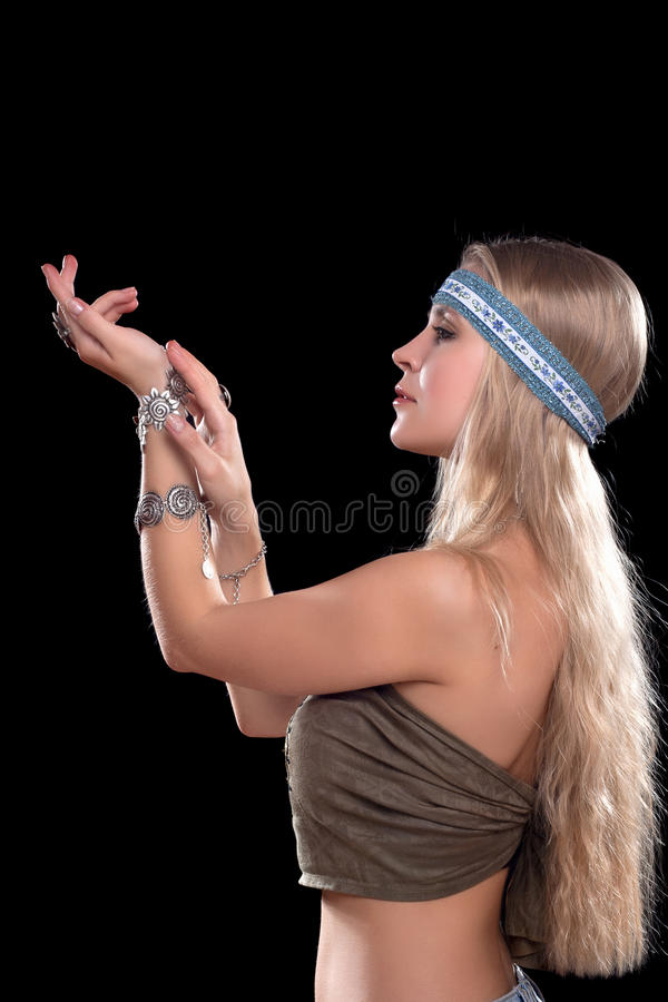 Download Nice Young Blonde In A Capitium Stock Image - Image: 28943333