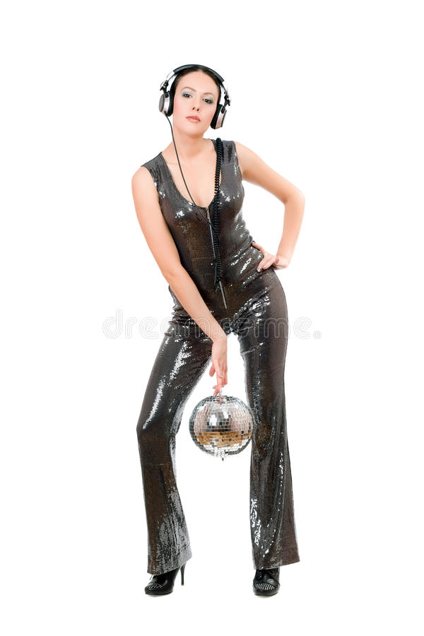 Download Nice Young Brunette With A Mirror Ball Stock Images - Image: 34667204