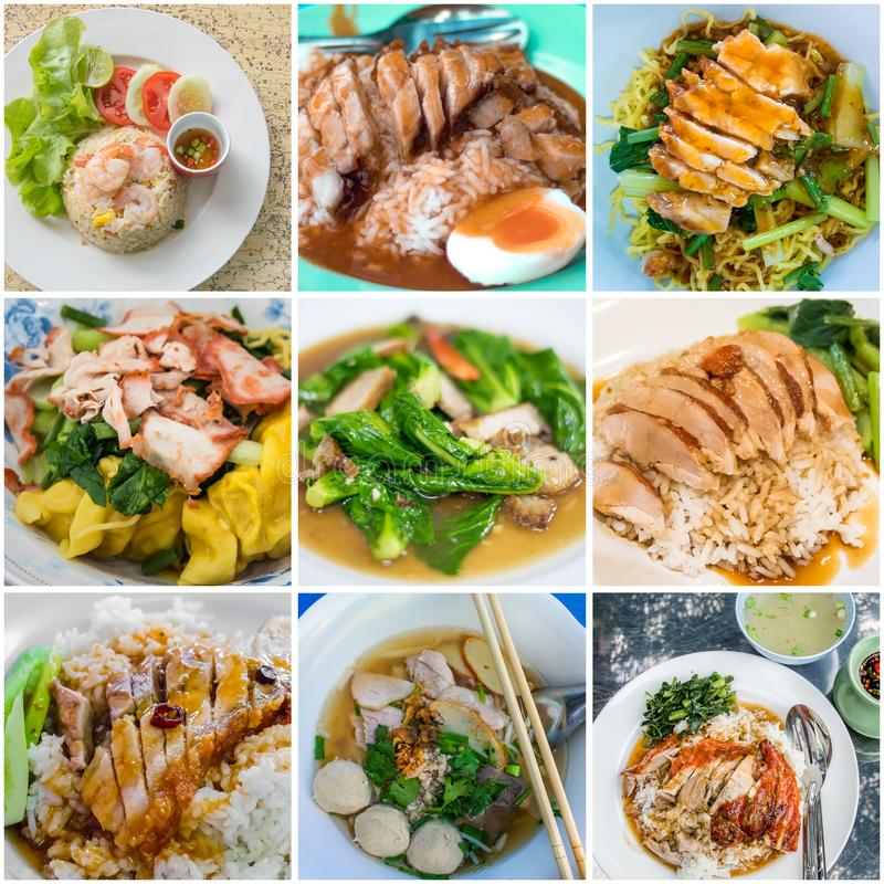 Nice Chinese food menu collage royalty free stock images