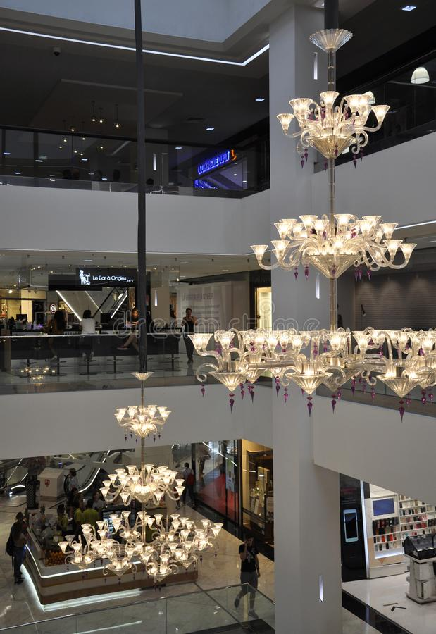Nicea, 5 wrzeÅ›nia: Å»yrandol Mall w Starej Miasteczce obraz stock