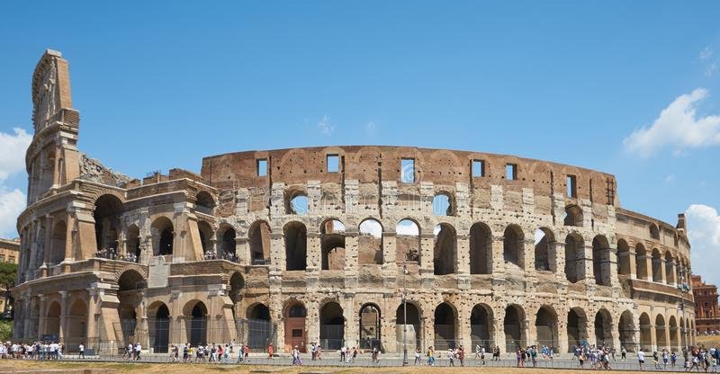 Coliseum in daylight. Nicest touristic place in the world. The Colosseum or Coliseum, also known as the Flavian Amphitheatre or Colosseo, is an oval stock photo