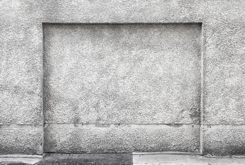 Niche in gray concrete wall. Background texture stock photos