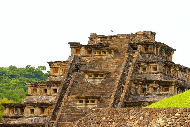 Niches pyramid tajin I. Niches pyramid, Tajin archaeological site, veracruz, mexico royalty free stock photography