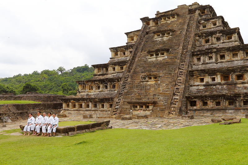 Niches pyramid Tajin VI. Niches pyramid, Tajin archaeological site, veracruz, mexico royalty free stock images