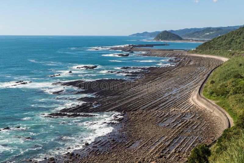 Nichinan coastline from Phoenix, viewpoint in Miyazaki, Kyushu, stock photos