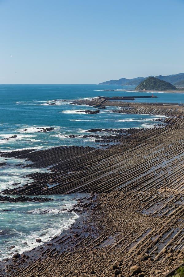 Nichinankustlijn van Phoenix, gezichtspunt in Miyazaki, Kyushu, stock foto's