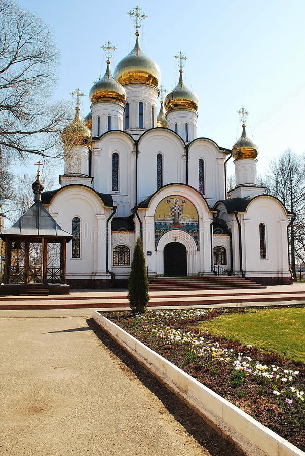 Nicholas Cathedral in st Nicholas Monastery Peres immagine stock