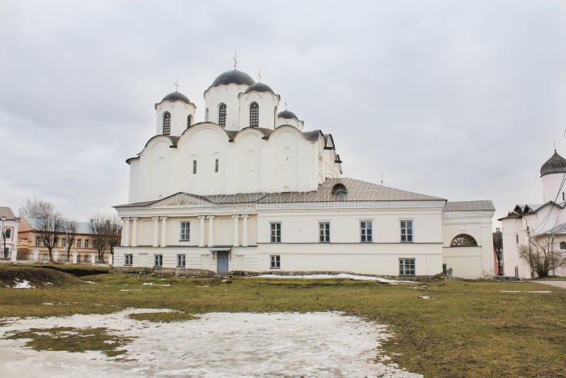 Nicholas Cathedral Yaroslav Court royaltyfri fotografi