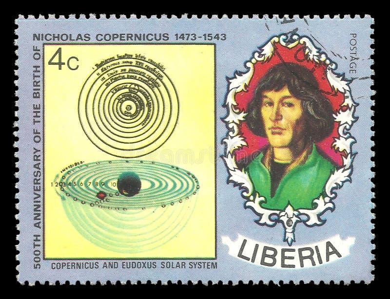 Nicholas Copernicus, sistema solar foto de stock