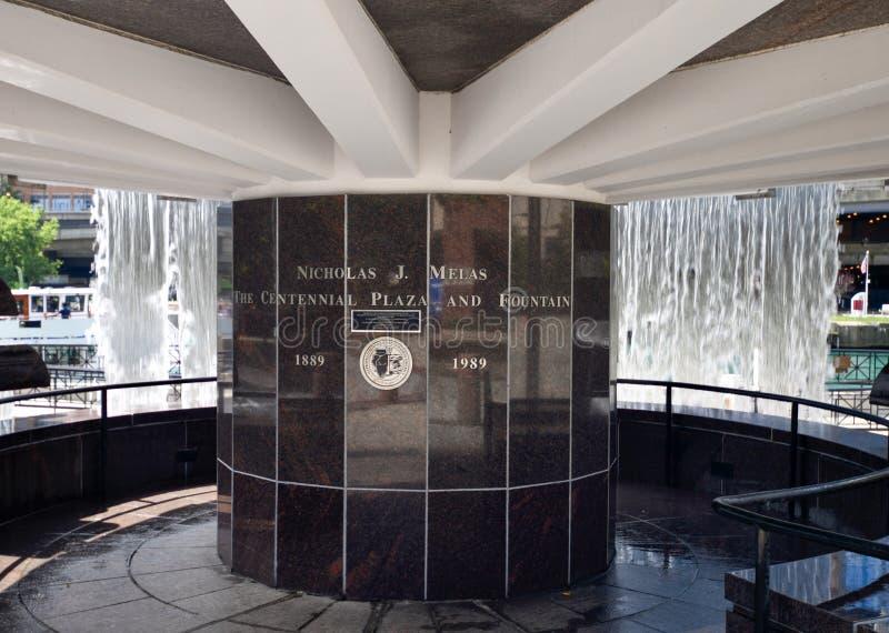Nicholas J Plaza et fontaine centennales #4 de Melas photos libres de droits