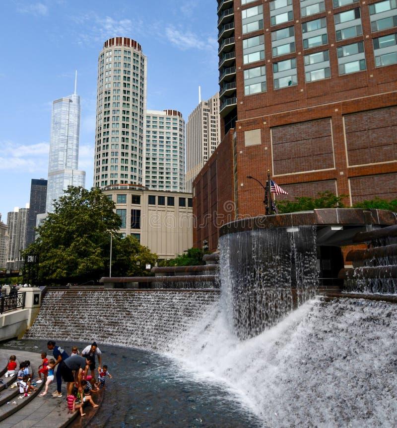 Nicholas J Plaza et fontaine centennales #2 de Melas photos libres de droits
