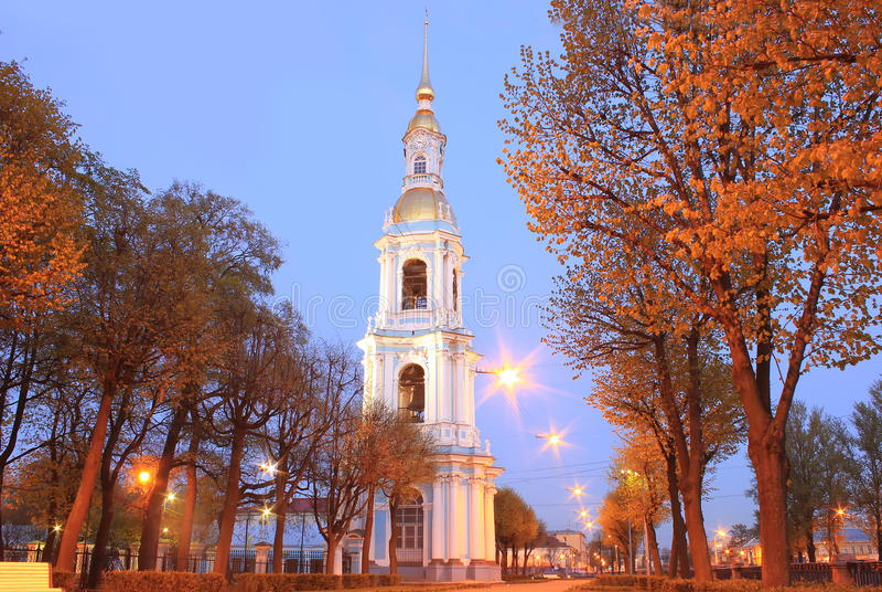 Nicholas klockatorn, St Petersburg, Ryssland royaltyfri foto