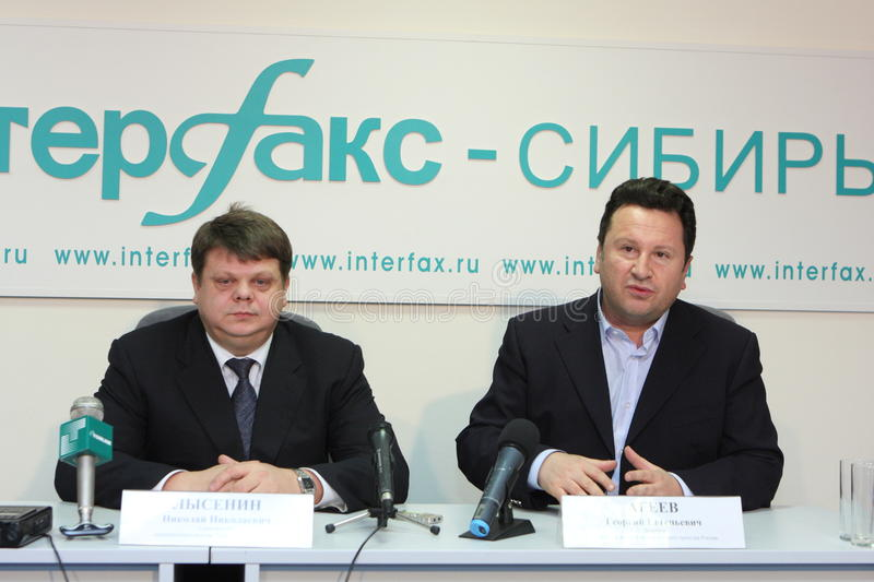 Nicholas Lysenin and George Ageev royalty free stock photo