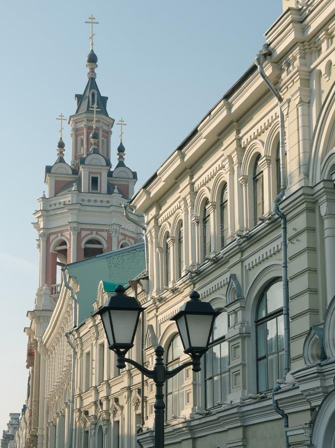 Nicholas Street a Mosca fotografie stock