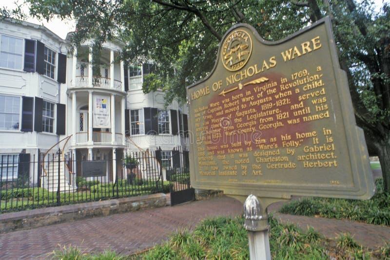 Nicholas Ware Mansion, Augusta, Georgia lizenzfreie stockfotografie