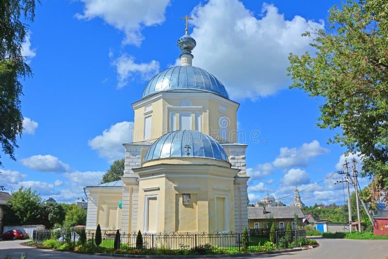 Nicholas The Wonderworkers kyrka i den Torzhok staden arkivbild