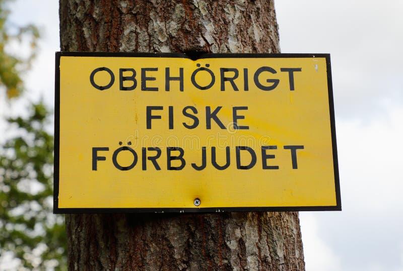 Nicht autorisierte Fischerei verboten stockbild