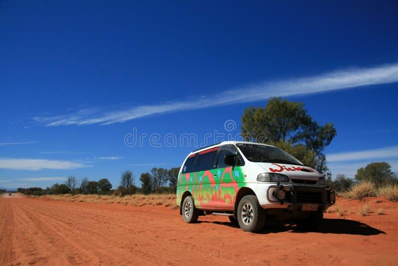 Nicht für den Straßenverkehr in der Wüste - die rote Mitte, Australien stockbilder