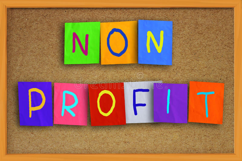 Nicht Gewinn-Konzept lizenzfreie stockbilder