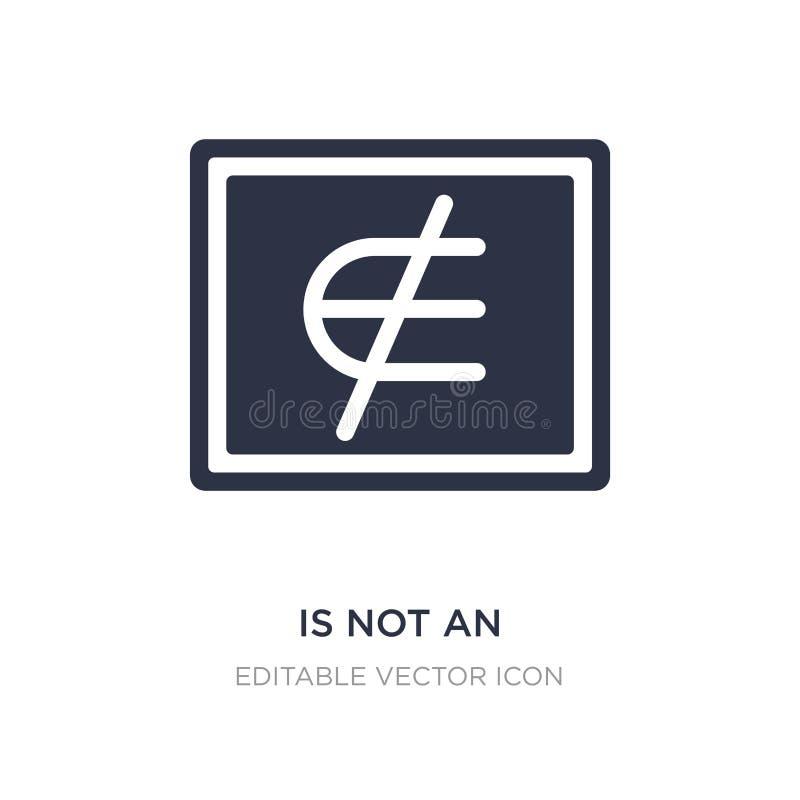 nicht ist ein Element der Ikone auf weißem Hintergrund Einfache Elementillustration vom Ausbildungskonzept lizenzfreie abbildung