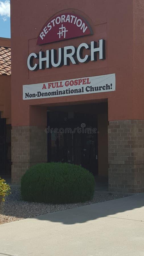Nicht konfessionelle Kirche stockbild